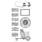 Graphic 45 - Hampton Art - Rare Oddities Collection - Cling Mounted Rubber Stamps - Two