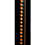 "Glitz Design - Frosting Collection - Self-Adhesive Rhinestones - 12"" Round Strips - Orange, CLEARANCE"