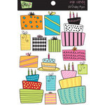 Glitz Design - Eye Candy Collection - Chipboard Stickers with Rhinestones - Eye Candy Party, CLEARANCE