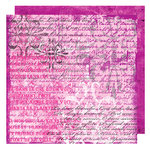 Glitz Design - Audrey Collection - 12 x 12 Double Sided Paper - Audrey Script, BRAND NEW