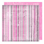 Glitz Design - Audrey Collection - 12 x 12 Double Sided Paper - Audrey Stripes, CLEARANCE