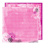 Glitz Design - Audrey Collection - 12 x 12 Double Sided Paper - Audrey Houndstooth, BRAND NEW