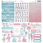 Glitz Design - Felicity Collection - 12 x 12 Cardstock Stickers - Alphabets and Accents