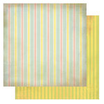 Glitz Design - Afternoon Muse Collection - 12 x 12 Double Sided Paper - Stripe