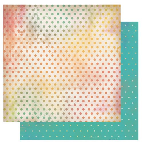 Glitz Design - Afternoon Muse Collection - 12 x 12 Double Sided Paper - Polka