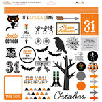 Glitz Design - Raven Collection - Halloween - 12 x 12 Cardstock Stickers - Titles and Accents