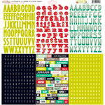 Glitz Design - Finnley Collection - 12 x 12 Cardstock Stickers - Alphabets and Words