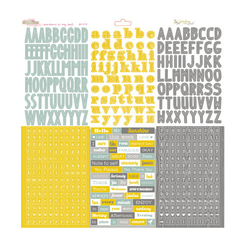 Glitz Design - Sunshine in My Soul Collection - 12 x 12 Cardstock Stickers - Alphabets and Words