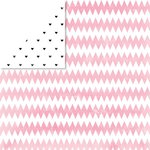 Glitz Design - Brightside Collection - 12 x 12 Double Sided Paper - Chunky Chevron