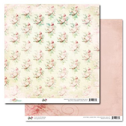 Glitz Design - Beautiful Dreamer Collection - 12 x 12 Double Sided Paper - Floral