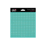 Glitz Design - Cardstock Stickers - Teeny Alphabet - Aqua, CLEARANCE