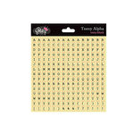 Glitz Design - Cardstock Stickers - Teeny Alphabet - Ivory