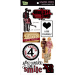 Glitz Design - Distressed Couture Collection - Cardstock Stickers - Titles, CLEARANCE