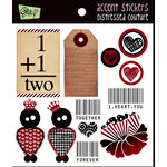 Glitz Design - Distressed Couture Collection - Cardstock Stickers - Accents, CLEARANCE