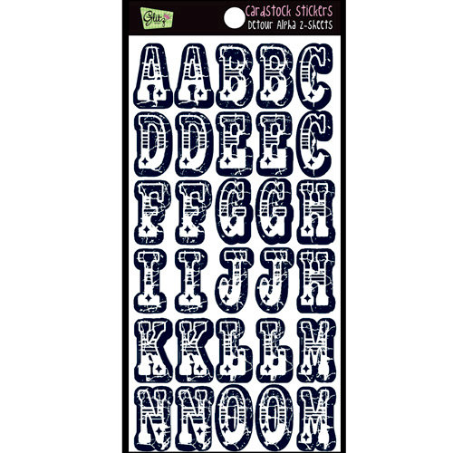 Glitz Design - Detour Collection - Cardstock Stickers - Alphabet, CLEARANCE