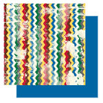 Glitz Design - Camelot Collection - 12x12 Double Sided Paper - Camelot Stripe, CLEARANCE