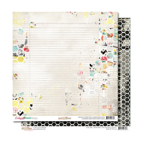 Glitz Design - Cashmere Dame Collection - 12 x 12 Double Sided Paper - Honeycomb