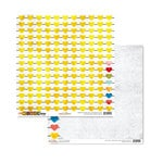 Glitz Design - Color Me Happy Collection - 12 x 12 Double Sided Paper - Hearts