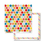 Glitz Design - Color Me Happy Collection - 12 x 12 Double Sided Paper - Polka