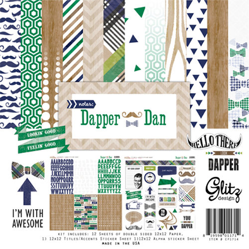 Glitz Design - Dapper Dan Collection - 12 x 12 Collection Pack