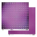 Glitz Design - Plum Crazy Collection - 12 x 12 Double Sided Paper - Plum Crazy Circles, BRAND NEW