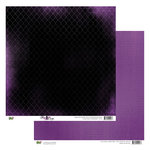 Glitz Design - Plum Crazy Collection - 12 x 12 Double Sided Paper - Plum Crazy Diamonds, BRAND NEW