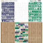 Glitz Design - Dapper Dan Collection - 12 x 12 Cardstock Stickers - Alphabets and Words