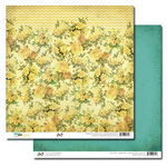 Glitz Design - Dance in Sunshine Collection - 12 x 12 Double Sided Paper - Floral