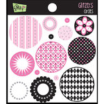 Glitz Design - Glam Collection - Glitzers - Transparent Stickers - Circles, CLEARANCE