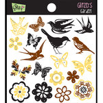 Glitz Design - Gigi Collection - Glitzers - Transparent Stickers - Garden, CLEARANCE