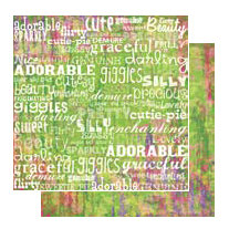 Glitz Design - Gigi Collection - 12x12 Double Sided Paper - Words, CLEARANCE