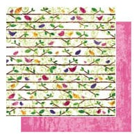 Glitz Design - Gigi Collection - 12x12 Double Sided Paper - Birds, CLEARANCE