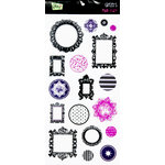 Glitz Design - Plum Crazy Collection - Glitzers - Transparent Stickers with Jewels - Plum Crazy