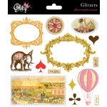 Glitz Design - Afternoon Muse Collection - Glitzers - Transparent Stickers with Jewels, CLEARANCE