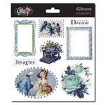 Glitz Design - Vintage Blue Collection - Glitzers - Transparent Stickers with Jewels