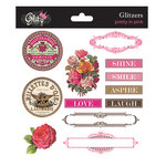 Glitz Design - Pretty in Pink Collection - Glitzers - Transparent Stickers with Jewels