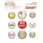 Glitz Design - Hello December Collection - Christmas - Giant Rhinestones
