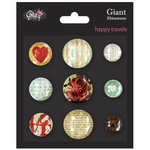 Glitz Design - Happy Travels Collection - Giant Rhinestones