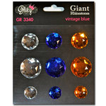 Glitz Design - Vintage Blue Collection - Giant Rhinestones