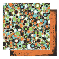 Glitz Design - Hallow Collection - 12x12 Double Sided Paper - Circles, CLEARANCE