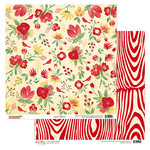 Glitz Design - Hello December Collection - Christmas - 12 x 12 Double Sided Paper - Floral