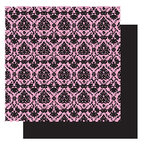 Glitz Design - Hot Mama Collection - 12x12 Double Sided Paper - Hot Mama Brocade