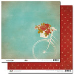 Glitz Design - Happy Travels Collection - 12 x 12 Double Sided Paper - Bicycle