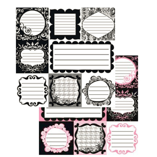 Glitz Design - Hot Mama Collection - 12x12 Journaling Cards, CLEARANCE