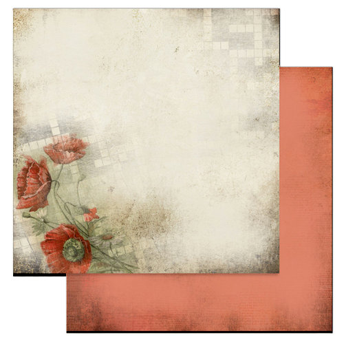 Glitz Design - Love Games Collection - 12 x 12 Double Sided Paper - Poppies, CLEARANCE