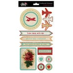 Glitz Design - Happy Travels Collection - Layered Stickers