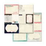 Glitz Design - Love You Madly Collection - 12 x 12 Double Sided Paper - Bits and Pieces