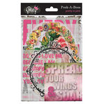 Glitz Design - Pretty in Pink Collection - Transparency Pieces - Peek-A-Boo