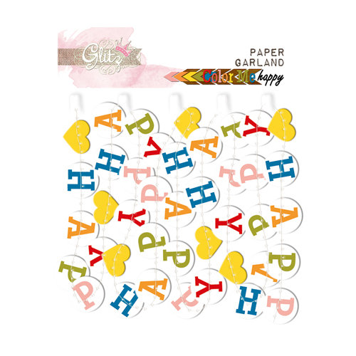 Glitz Design - Color Me Happy Collection - Paper Garland