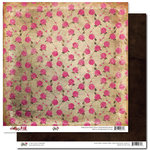 Glitz Design - Pretty in Pink Collection - 12 x 12 Double Sided Paper - Roses